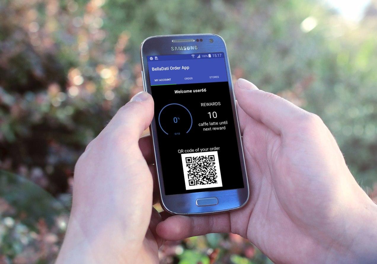 BellaDati Android Mobile Block for creating QR code