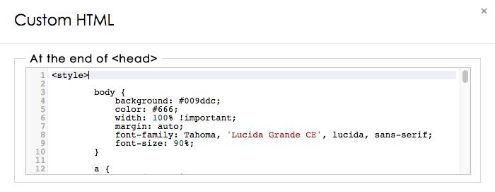 Custom login page CSS