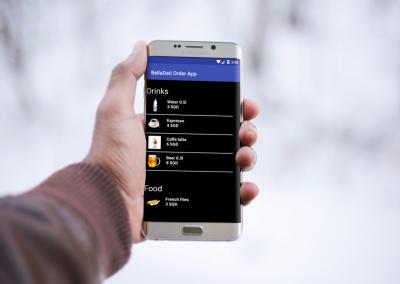 BellaDati Android Mobile Block for the Menu Setup